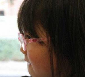新しいメガネ 前傾角