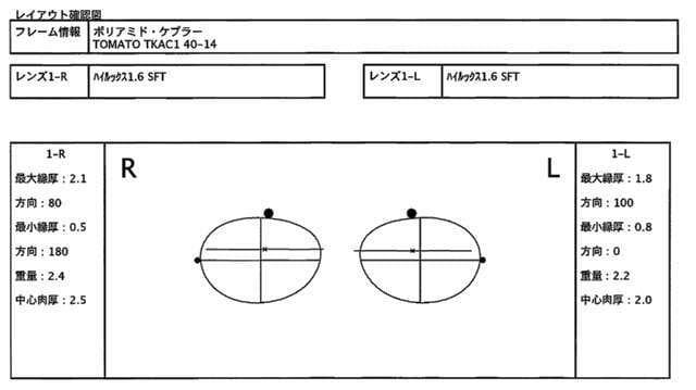 レンズレイアウト図