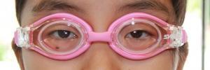 【実施例】水中ゴーグル 強度近視性乱視