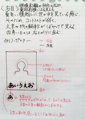 ユーザーのイラストによる見え方説明