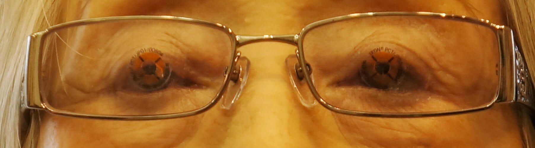 目とレンズの中心一致確認