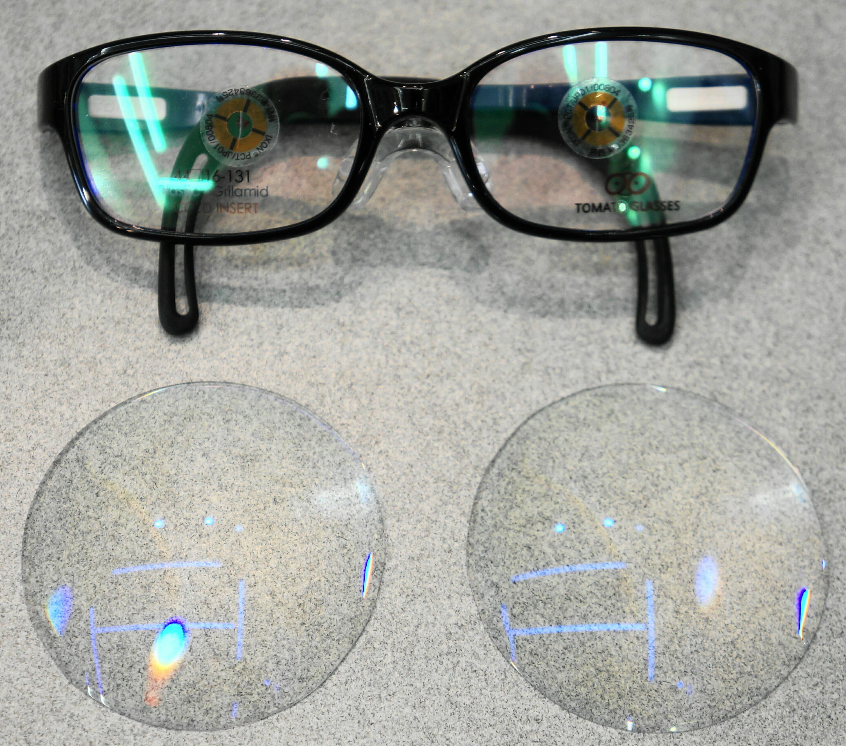 レンズ・フレームの概略写真