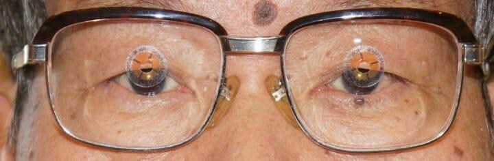 眼鏡装着状態(調整前)