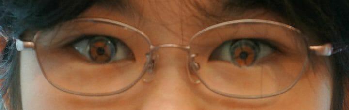 精密調整前の眼鏡