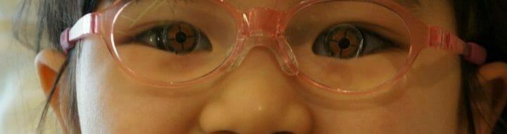 完成した眼鏡装着したところ