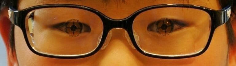 瞳孔とレンズ光学中心一致確認