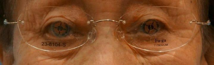 瞳孔中心測定