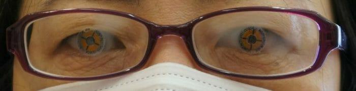 使用中の近用眼鏡