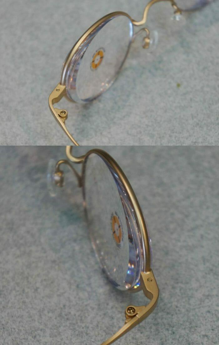 レンズ耳側の厚み概要