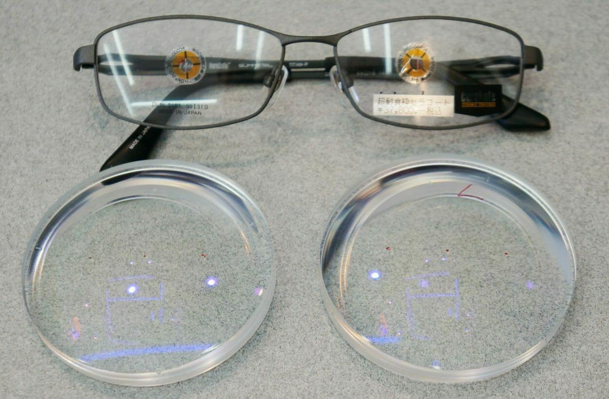 レンズと取付対象フレーム